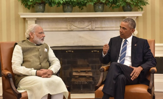 Indian Prime Minister, Narendra Modi meeting U.S. President Barack Obama at the White House, on June 07, 2016.